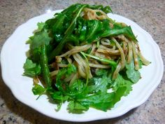 Lo Mein Noodles with arugula and XO sauce