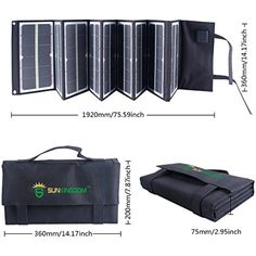 SUNKINGDOM newest and highest effiency 80Watt portable Folding Solar Panel Charger with fluorescence and Dual voltage controller with wide application for laptop,phone, battery for outdoor * Check out this great product. (This is an affiliate link) #AccessoriesSupplies