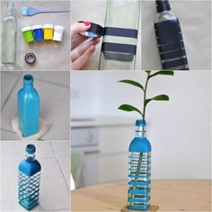 DIY Beautiful Vase from Glass Bottle on imgfave