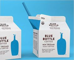 Blue Bottle brand iced coffee #packaging #icedcoffee