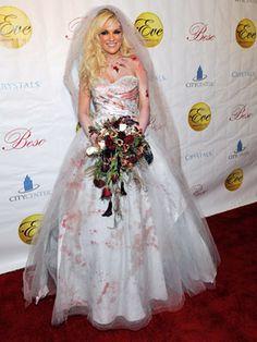 Bridget Marquardt as a bloody corpse bride · Celebrity Halloween CostumesHalloween Costume ...  sc 1 st  Pinterest & Skeleton day of the dead halloween costume by myliltreasureboxx ...