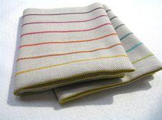 dish towel, woven by hand, geschirrtuch, handgewebt, baumwolle - leinen