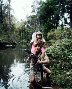 Steve and Bindi Irwin. That girl is so lucky to have had a father like him.