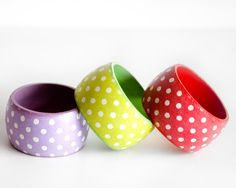 Hey, I found this really awesome Etsy listing at https://www.etsy.com/listing/153052172/choose-your-color-polka-dot-bangle