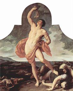 Guido Reni. Sansón victorioso, 1611. Óleo sobre lienzo. WikiPaintings.org