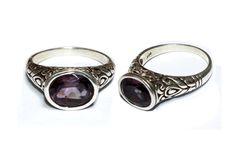925 Solid Sterling Silver Natural Amethyst by gemsnjewelryworld