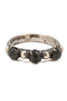 A classic studded Evidence Jewelry ring, the Frances is dotted with faceted black stones, giving it a majorly regal feel. Details: Silver, Mixed metal, Swarovski crystal. Evidence Jewelry is a celebra