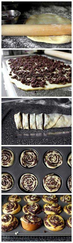 Маково - шоколадные рулетки