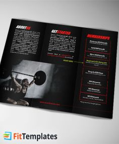 CrossFit trifold brochure template from FitTemplates.com