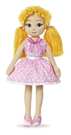 Aurora World's Giselle Soft Fashion Doll is part of the Sweet Lollies collection of trend savvy girlfriends. Sweet Lollies are beautifully designed with embroidered facial features, styled yarn wigs & interchangeable clothing and are double-bag bean filled for safety. Each doll also has a friendship heart embroidered on her chest.