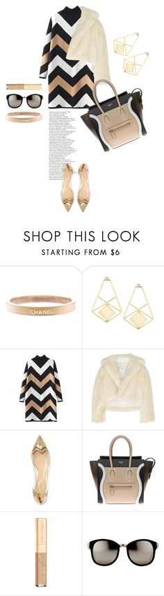 """Black & Gold"" by indigo-summer ❤ liked on Polyvore featuring Chanel, Toga, Nicholas Kirkwood, CÉLINE, Dolce&Gabbana, Linda Farrow, women's clothing, women, female and woman"