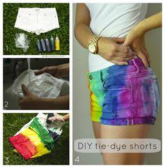 Tie-Dye Shorts tutorial on popcosmo.com