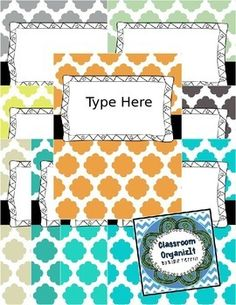 This pack consists of {Editable} Binder Covers and a cute doodle frame with the choice of 9 colors to choose from!  Note: This pack contains only front covers. This is the 4th set from 8 to choose from. Doodle Frames are different for each set.   ~Thank you for browsing my products!  ~Blair Terrill #classroomorganizit