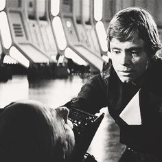 Luke is finally able to have a good cry upon his father's death, in addition to losing his aunt and uncle, Ben Kenobi, his childhood friend, Biggs; and learning his father's true identity. That's an awful lot to hold in. Poor Luke. :(