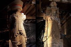 Greek statues of Caryatid maidens that guard a tomb from the age of Alexander the Great Amphipolis Tomb - NBC News
