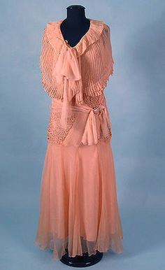 Chiffon & Lace Dress & Capelet, 1930s October 24, 2004 - Session 2 Lot 562 - $200.00