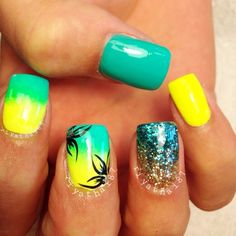 Vacation Nails To St Barts ! Get Nails, Fancy Nails, Love Nails, Fabulous Nails, Gorgeous Nails, Pretty Nails, Uñas Fashion, Vacation Nails, Beach Nails