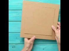 142 Cara Membuat Bingkai Foto Dengan Kardus Youtube Bingkai