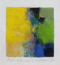 "Apr. 22, 2017 9 cm x 9 cm (app. 4"" x 4"") oil on canvas  © 2017 Hiroshi Matsumoto"