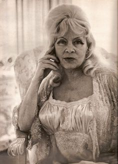Mae West, by Diane Arbus, 1965. She lived with younger men who doted on her. I hope I am half as fabulous.