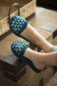 Slip Stitch #Slippers - A free #knitting pattern from Love of Knitting magazine