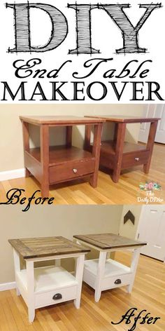 New Simple DIY Furniture Makeover and Transformation Repurposed Furniture DIY Diyhomedecor Furniture Makeover Simple transformation Diy Garden Furniture, Diy Furniture Easy, Diy Furniture Projects, Refurbished Furniture, Repurposed Furniture, Furniture Decor, Bedroom Furniture, Refurbished End Tables, Furniture Stores