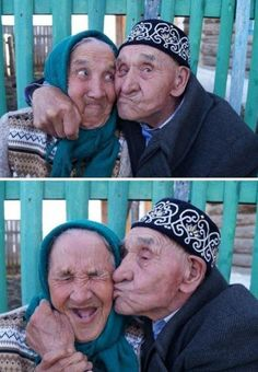 Old couple, simply beautiful - funny pictures #funnypictures