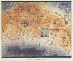 Paul Klee, Baia M. in Sicilia, 1925, (acquarello). Franz Marc Museum-Art in the 20th Century.