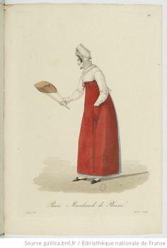 Marchande de Plaisir from Georges-Jacques Gatine, Costumes d'ouvrières parisiennes, 1824, BNF Paris
