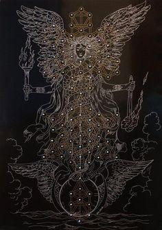 poeemindfckr: Tree of Life. Magus Hands // psychedelic tribal art // Kabbalah // angle wings // kundalini // spiritual energy art