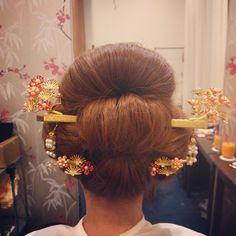 #新日本髪#地毛結い#色かんざし#着物#色打ち掛け #hair#hairarrange #結婚式#bridal#お色直し#和装#ヘアスタイル