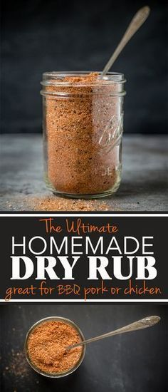 Homemade Dry Rub for Pork and Chicken The Ultimate Homemade Dry Rub. A fantastic homemade dry rub that works great on bbq Pork and Chicken.The Ultimate Homemade Dry Rub. A fantastic homemade dry rub that works great on bbq Pork and Chicken. Pork Dry Rubs, Bbq Dry Rub, Meat Rubs, Dry Rub Ribs, Pulled Pork Dry Rub, Pork Chop Rub, Pork Ribs, Rib Dry Rubs, Homemade Spices