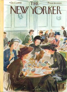 Cover by Constantin Alajálov (November 18, 1900 - October 23, 1987) was an American painter and illustrator. He was born in Rostov, Russia and immigrated to New York City in 1923, becoming a US citizen in 1928. Many of his illustrations were covers for such magazines as The New Yorker, The Saturday Evening Post, and Fortune.