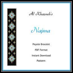Peyote Bracelet Pattern NAJMA por AlKhazneh en Etsy
