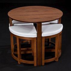 Stół z krzesłami Oval Walnut | Bonami