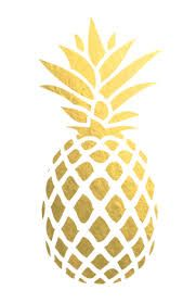 pineapple gold stencil