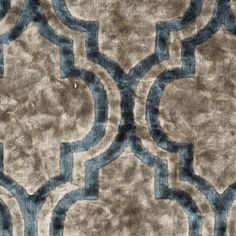 Gray Moroccan Velvet 300653 Upholstery velvet in a distinctive Moroccan pattern in gray and teal. Rich and evocative; goes well in formal and informal rooms. Moroccan Fabric, Moroccan Pattern, Teal And Grey, Gray, Buy Fabric, Fabric Material, Mood Fabrics, Wall Bar, Home Decor Fabric
