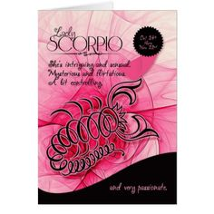 Scorpio Birthday For Her Oct 24th And November 22 Card