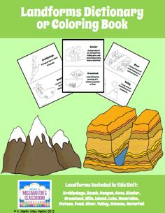 Teaching Landforms in Miss Martin's Classroom - FREE Landforms Dictionary