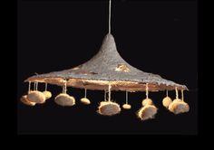 Hanging Lamp 1 — papier-mâché and natural fibers