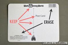 postcard party invitations
