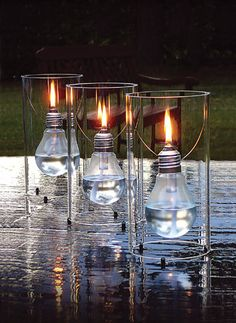Light bulb lanterns