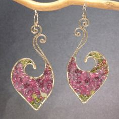 Hey, I found this really awesome Etsy listing at https://www.etsy.com/listing/199470904/hammered-swirl-earrings-pink-ruby
