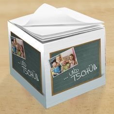 Notepad to say goodbye to employees and work colleagues, kindergarten, foreign exchange year,… - Fasching Basteln Mit Kindern Teacher Appreciation Gifts, Teacher Gifts, Going Away Parties, Geography Lessons, Saying Goodbye, Goodbye Goodbye, Work Colleague, Kindergarten Lesson Plans, Diy Presents