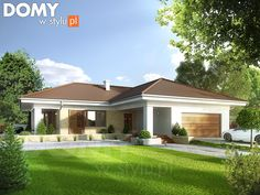 Aksamit 4 on Behance Model House Plan, My House Plans, Bungalow House Plans, Bungalow House Design, Home Building Design, Home Design Plans, Building A House, 4 Bedroom House Designs, Cool House Designs