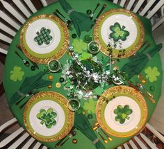 My St. Patrick's Day table 2013.