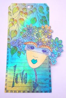 by Dyan Reaveley: stamps, dylusions inks