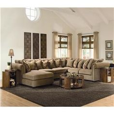 You will have the sectionals that you always wish for. Sectionals that are cheap and affordable to everyone. The classy home have it all. Home Living Room, Living Room Furniture, Living Room Decor, Sectional Sofa With Chaise, Couches, Sofas, Living Room Rug Placement, Palm Beach, Sweet Home Design