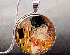 Gustav Klimt The Kiss pendant Maids gift idea