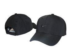 154b7e55500 Mens   Womens Nike Classic Icon Logo Embroidery Velcro Strap Back Baseball  Adjustable Cap - Black